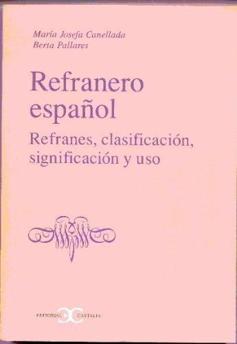 Refranero español (CASTALIA INSTRUMENTA) por María Josefa Canellada