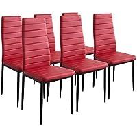 Amazon Fr Rouge Chaises Salle A Manger Cuisine Maison