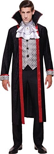 Erwachsene Halloween Kostüm Party Herren Dracula Vampir Duke Komplette Kostüm Uk (Halloween Kostüme Uk)