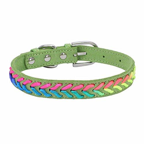 ubehör Exquisite Mode einstellbar 10 Farbe Woven Dog Puppy Pet Halsbänder ()
