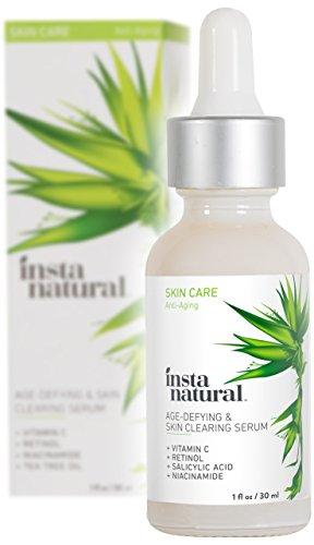 Suero de Vitamina C para la Limpieza de la Piel de InstaNatural – Fórmula anti-envejecimiento con Retinol y Ácido Hialurónico – Producto facial natural y orgánico que enfrenta las arrugas, el acné, los puntos negros, las líneas de expresión y la hiperpigmentación – 30 ml