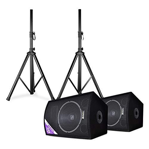 Skytec SL12 • Discoboxen-Paar • mit Stativen • 12
