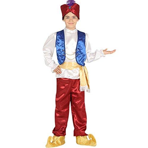 Kinderkostüm Kleiner Muck Orient Märchen 1001 Nacht Aladdin Prinz Fasching (Kostüm Sultan Aladdin)