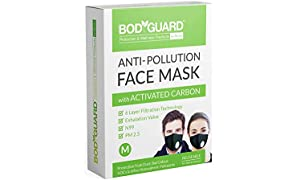 Bodyguard Reusable Anti Pollution Face Mask With Activated Carbon, N99 + Pm2.5 - Medium