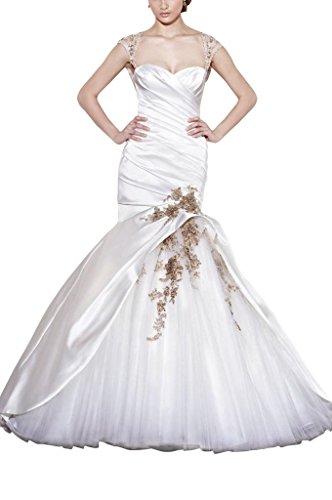 GEORGE BRIDE Die neuesten Design Organza fishtail Fluegelaermel Brautkleider Hochzeitskleider,...