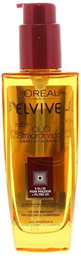L'Oréal Paris Elvive Olio Straordinario Trattamento Nutriente per Capelli Colorati o Secchi, 100 ml