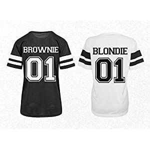 Beste Freundin Trikot Shirts Brownie Blondie