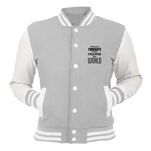 T Shirtshock College Jacket Grey Cit0028 Ambia Il Tuo Pensiero