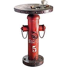 """Mesa auxiliar """"Fireplug Hydrant"""", estilo industrial, metal / madera, de aprox. 79 cm de altura"""