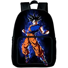 GuiSoHn Anime Dragon Ball Z Super Mochila Escolar Estudiante Bolso de Escuela Backpack Mochila para Portátil