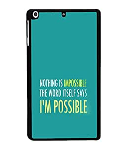 printtech Cool Quotes Success Back Case Cover for Apple iPad Mini 3
