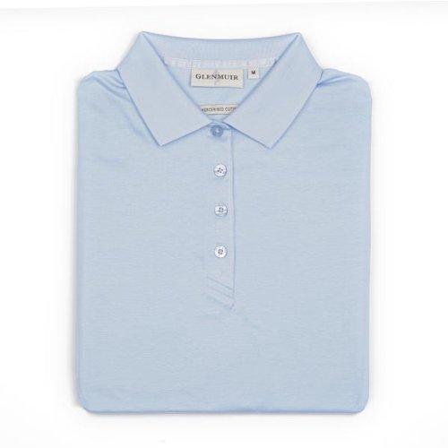 Glenmuir Damen-Poloshirt, merzerisierte Baumwolle, schlicht Blau - Paradise
