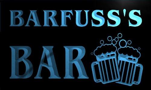 w037594-b BARFUSS Name Home Bar Pub Beer Mugs Cheers Neon Light Sign Barlicht Neonlicht Lichtwerbung (Barfuß Bar)