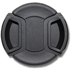 vhbw Couvercle d'objectif Noir 58mm poignée Snap on Appareil Panasonic Lumix G Vario 35-100mm 2.8 OIS, Lumix GX Vario 12-35 mm 2,8 ASPH. Power OIS