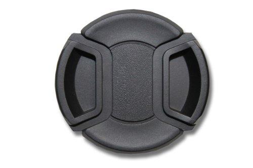 vhbw Objektiv Deckel 58mm Innengriff Snap On Schwarz für Kamera Canon, Casio, Fuji, Fujifilm, JVC, Kodak, Leica, Minolta, Nikon, Olympus - Durchmesser Objektiv