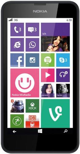 Nokia Lumia 630 Smartphone, 8 GB, Nero [Italia]
