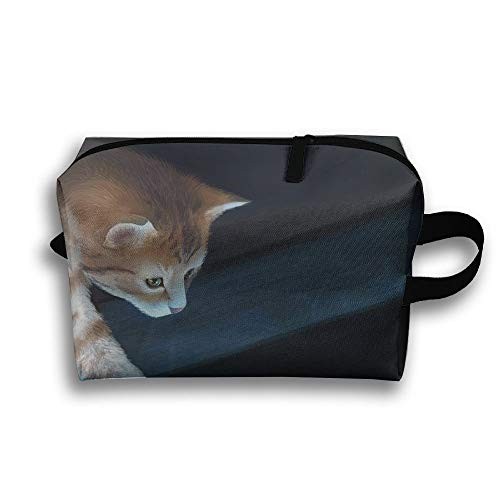 Cat Want Fish Travel Bag Toiletries Bag Phone Coin Purse Cosmetic Pouch Pencil Case Tote Multifunction Organizer Storage Bag