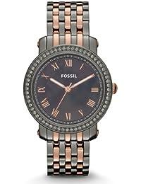 Fossil Damen-Armbanduhr Analog Edelstahl beschichtet ES3115