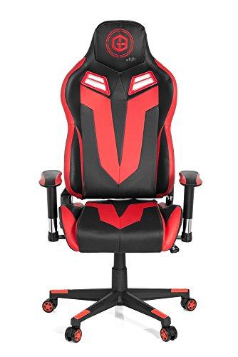 hjh OFFICE 734120silla de Gaming/Silla de oficina gamebreaker VR 12sintética negro/rojo