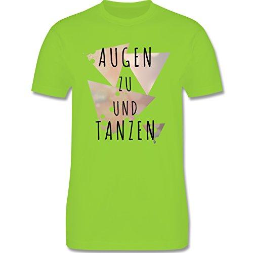 Festival - Augen zu und tanzen - Herren Premium T-Shirt Hellgrün