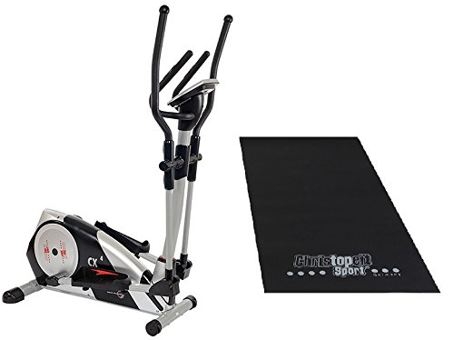 Christopeit SET Crosstrainer CX 4 mit Unterlegmatte, 5012