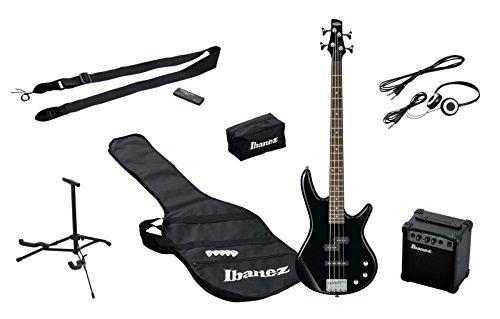 Ibanez IJSR190-BK E-Bass Starter Set mit Verstärker (Tasche, Stimmgerät, Kopfhörer, Zubehör) schwarz