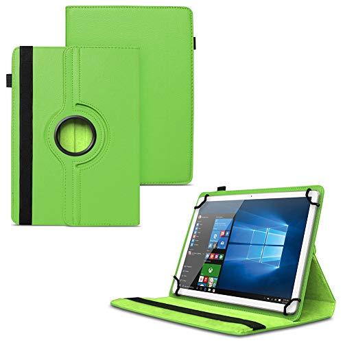 UC-Express NAUCI Odys Cosmo Win X9 Odys Winpad X9 Tablet Universal Schutzhülle aus Kunstleder Hülle Tasche Standfunktion 360° Drehbar Cover Case, Farben:Grün