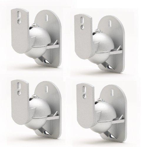 4 Pack Silber Universal-Wandhalterungen für Lautsprecher