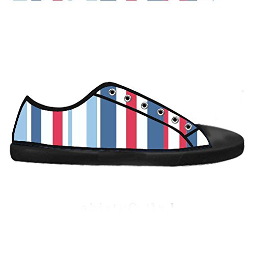 dalliy couleur Rayures Mens Canvas Shoes Chaussures Lace Up High Top pour Sneakers Toile Chaussures de chaussures de toile chaussures de sport C