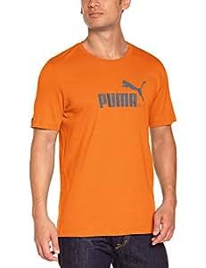 Puma T-shirt avec grand No. 1avec logo pour homme L Red Orange