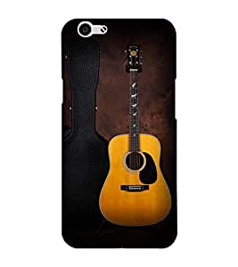 Fuson Designer Back Case Cover for Oppo F1s (A guitar with case)