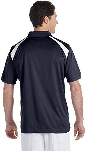 HARRITON Herren Polytech Colorblock Polo Shirt. M318 Navy / Weiß