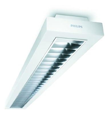 Philips EFix TCS260 1x54 Watt HFP EVG D6 mattes Hochglanzraster Gehäuse weiss von Philips auf Lampenhans.de