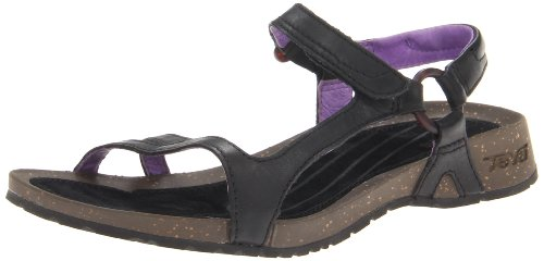 Teva Cabrillo Universal Leather 8780 Damen Sandalen Schwarz (black/purple 726)