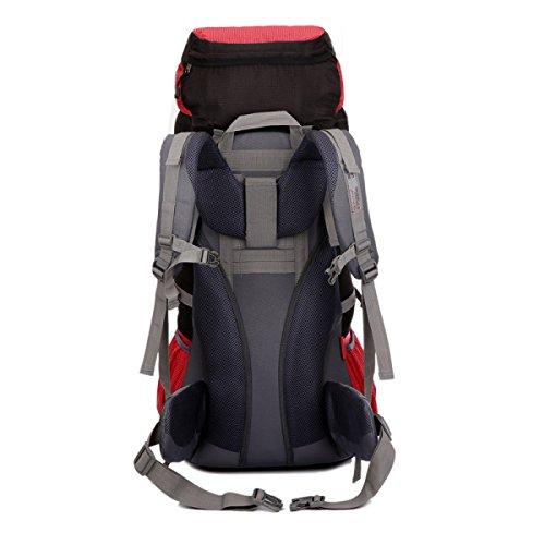 Wasserresistentes Wandern Trekking Rucksack Klettern Rucksack Outdoor Sport Pack,DarkGreen Red
