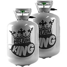 Bombona de helio - para 60 globos, 2 x Kit de Gas cilindros Super ahorrador