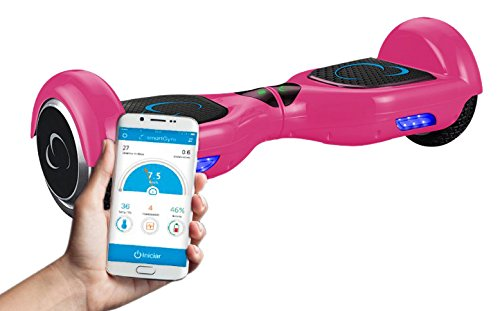 SmartGyro X2 Pink- Patinete eléctrico con Certificado UL2272, Ruedas Run-Flat Talla 6.5