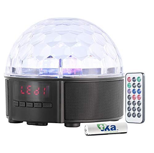 auvisio Musikbox mit Discokugel: Mobile Discokugel mit Lautsprecher, Bluetooth, MP3-Player, 20 Watt (Discokugel mit Musik) Smartphone Open Box