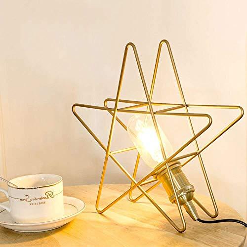 Stars Einziges Licht (CZSM E27 Sockel Sicherheit Schreibtisch Lichter Einzigen Kopf Metall Star Tischlampe Studie Leselampe Kinderzimmer Nachtbeleuchtung für Klassenzimmer Büro Schlafsaal Wohnzimmer (Farbe: Gold) !)
