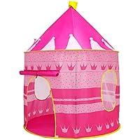 Seilent Carpa plegable,Tienda Campaña Infantil para Niños,Tienda de Princesa para Niñas para Interiores y Exteriores