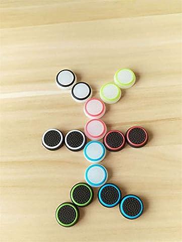 Stillshine prise de pouce thumb grip silicone caps pour PS2, PS3, PS4, Xbox 360, Xbox One, Wii U Manette (16PC)(Lueur blanche transparente dans l'obscurité)(multicolore)