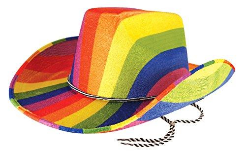 gen Multi Color Pride Kostüm Kostüm - Pick & Mix (Eine Grösse passt allen, Ranibow Cowboyhut) (Stolz-regenbogen)