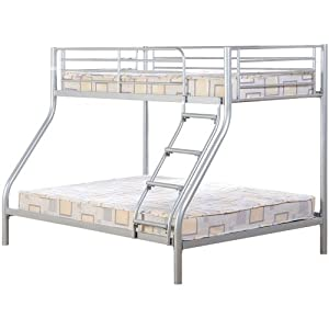 Tandi Triple Sleeper Bunk Bed in Silver