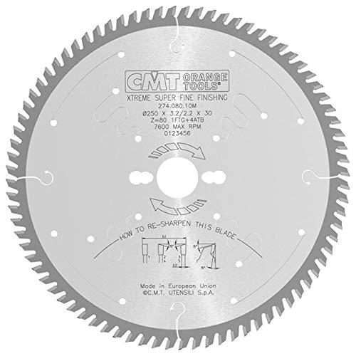 CMT Orange Tools 274,080,10 xtreme hw M scie circulaire 250 x 30 x 80 z 3,2 1ftg 4atb