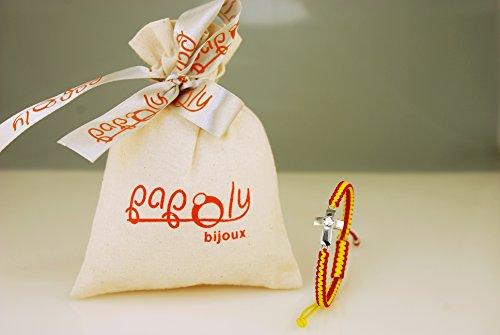 Imagen de papoly pulseras españa, macramé hecha a mano detalle de plata de ley 925, swarovski® varios diseños y colores bandera de españa incluye bolsa de regalo  alternativa