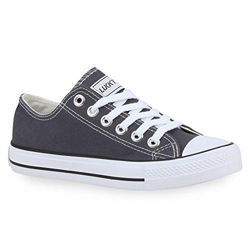 Stiefelparadies Damen Schuhe Schuhe Sneakers Sportschuhe Schnürer Schuhe 24763 Dunkelgrau Ambler 41 Flandell