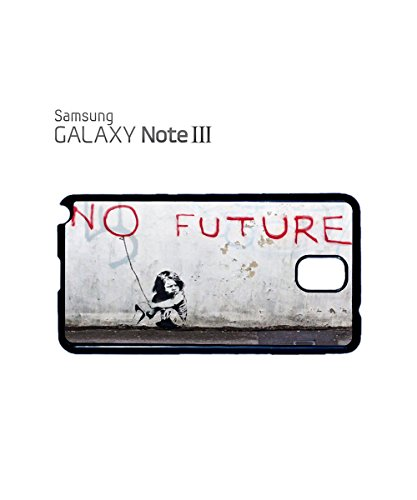 Banksy Girl No Future Baloon Balon Meaningful Mobile Phone Case Samsung Note 3 Black Noir