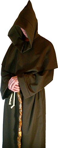Monks Robe und Kreuz Mönch Friar pagan Qualität Halloween Kostüm