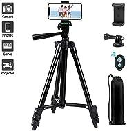 "Phone Tripod,LINKCOOL 42"" Aluminum Lightweight Portable Camera Tripod for Iphone/Samsung/Smartphone/Actio"