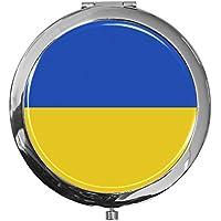"""metALUm - Extragroße Pillendose in runder Form""""Flagge Ukraine"""" preisvergleich bei billige-tabletten.eu"""